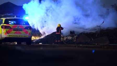 Tyres and rubbish went up in flames atSandylandin Wisbech at around 6pm on Wednesday, March 17.