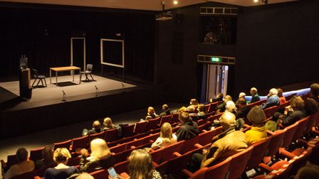 The Abbey Theatre auditorium adapted for a COVID-19 safe audience.