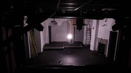 A ghost light at the Barn Theatre in Welwyn Garden City