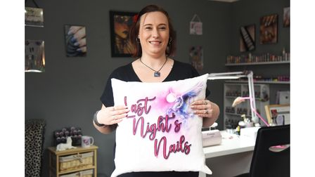 Hayley Bradford at her new nail business, Last Night's Nails in Ipswich