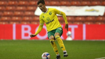 Dimitris Giannoulis of Norwich in action during the Sky Bet Championship match at the City Ground, N