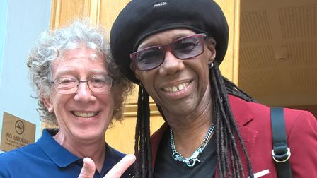 Paul with Nile Rogers
