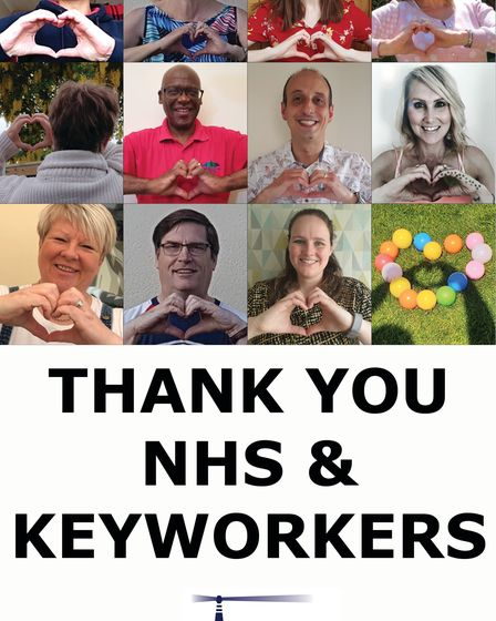 Staff at Beacon Wealth made their own 'thank you' message for NHS staff and keyworkers.