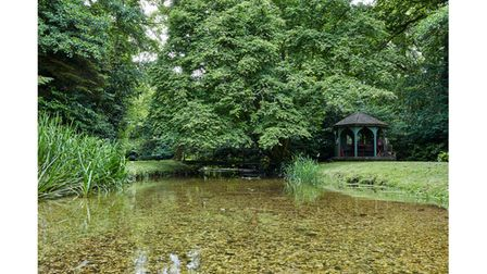 The river walk at Stafford House in Dorset, home of Lord and Lady Fellowes