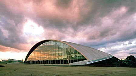 The American Air Museum at Duxford, built by architects Fosters and Partners in 1997.