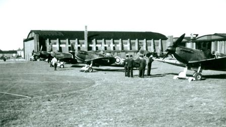 During the Battle of Britain, this hangar was used as the Station Theatre where regular cinema shows, ENSA performances.