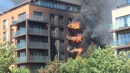 A fire at the Orwell Building in West Hampstead Square.