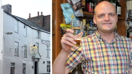 The Angel Inn, Wisbech, and publican Cllr Aigars Balsevics, now mayor of Wisbech.