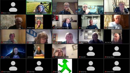 The Therfield Heath public meeting was held on Zoom.