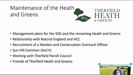 The Therfield Heath public meeting was held on Zoom