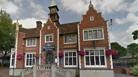The Cricketers in Crown Street, Ipswich, is one of the several JD Wetherspoon pubs across Suffolk.