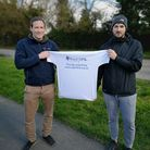 Ben Fox and James Gwynn from Melbourn FC helped raise money for Mind