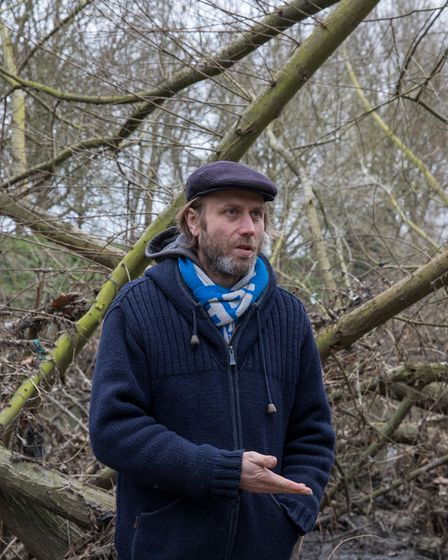 Climate and plastics campaigner Julian Kirby at Hackney Marshes.