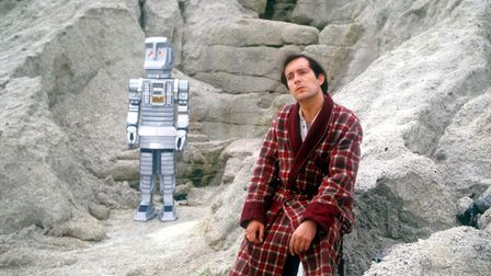 Simon Jones, as Arthur Dent in the BBC's 1981 series The Hitchhiker's Guide to the Galaxy