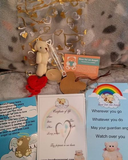 Bear for an Angel is a non-profit organisation that provides hospitals with Quinn's bags of hope for baby loss.
