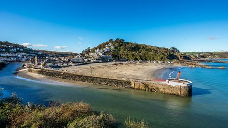 Exploring the harbour of Looe in Cornwall