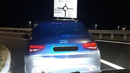 Audi stopped by police after 130mph speeding