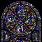 The'Miracle Window' at Canterbury Cathedral, made after the murder of Thomas Becket