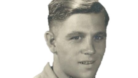 Gerry Skinner in the air force in Egypt when he was about 18 or 19