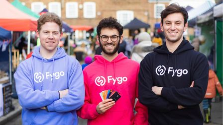 Fygo founders (l-r)Ben Champion, andToby andJonah Lowenstein