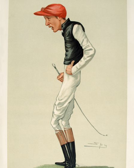 Caricature of Frederick J. Archer, 1881, 'Men of the Day', no. 245, 'The Favourite Jockey'