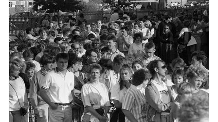 The crowd watching Tina Turner in July 1990