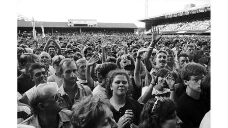 The crowd watching Tina Turner's concert at Ipswich Town's ground in 1990