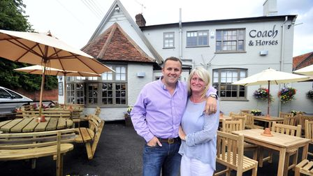 NewsPic Lucy taylorThe Coach & Horses pub, Melton reopeningSteve and Louise LomasEADT 8.7.