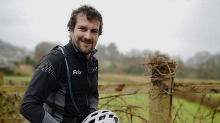 Josh Pearson prepares for his cycle challenge