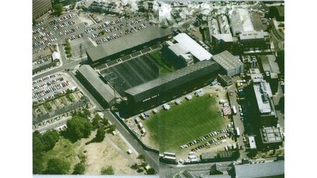 How Portman Road looked from the air before Tina Turner's concert