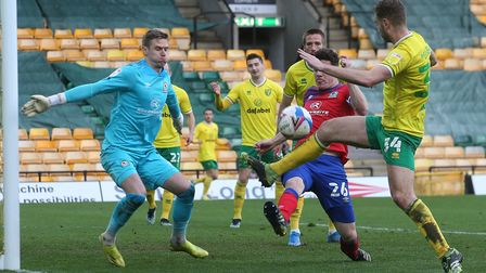Ben Gibson will be assessed for ankle ligament damage after Norwich City's 1-1 Championship draw against Blackburn