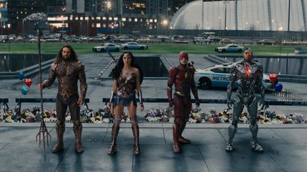 Aquaman, Wonder Woman,The Flash and Cyborg in Zack Snyder's definitive cut ofJustice League.