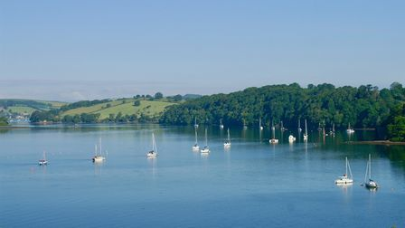 Boats on The River Dart at Galmpton