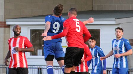 Clevedon Town in FA Vase action against Bitton