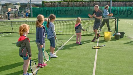 Free coaching for children at a previous open day at Nailsea Tennis ClubHERTON