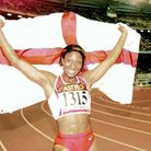 England's Denise Lewis after successfully retaining her heptathlon title at the 1998 Commonwealth Games
