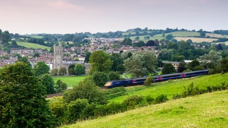 Bruton, England, United Kingdom - July 26, 2012: A First Great Western Intercity 125 high speed pass