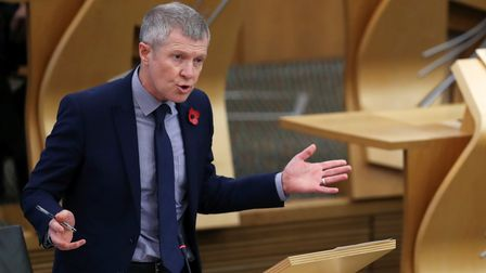 Scottish Liberal Democrats leader Willie Rennie attends First Minister's Questions at the Scottish P