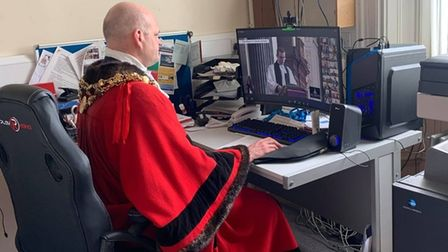 Mayor of Wisbech Cllr Aigars Balsevics adopting a 'civic business as usual' stance