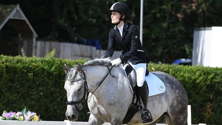 Kate Steiner, a medical consultant at Lister Hospital in Stevenage, riding her horse Dizzy