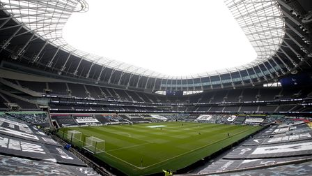 General view of the empty Tottenham Hotspur Stadium before the Premier League match at the Tottenham