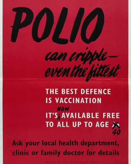 Sabin live oral polio vaccine in 1962, which generations of children remember having administered on a sugar cube.