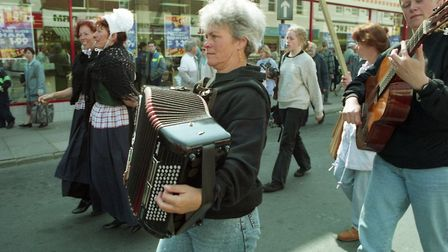 Felixstowes folk weekend in 1994 Picture: ARCHANT