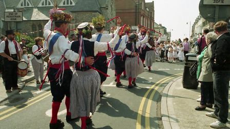 People parading through the streets in fancy dress at the weekend in 1994 Picture: ARCHANT