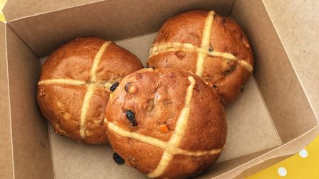 Hot cross buns from Sean's in Redbourn.
