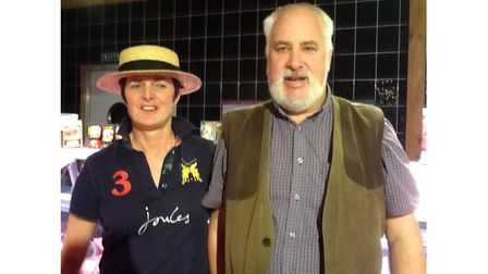 Farm business couple pictured together