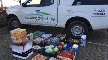 HDC delivered food in the community.