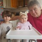 Welwyn's Martin Sheppard with his two grandchildren