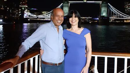 Arif and his wife Kathryn, pictured in 2019