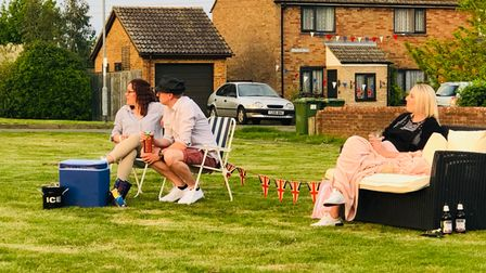 Villagers in Perry on VE day 2020.